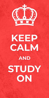 Keep Calm and Study on caption