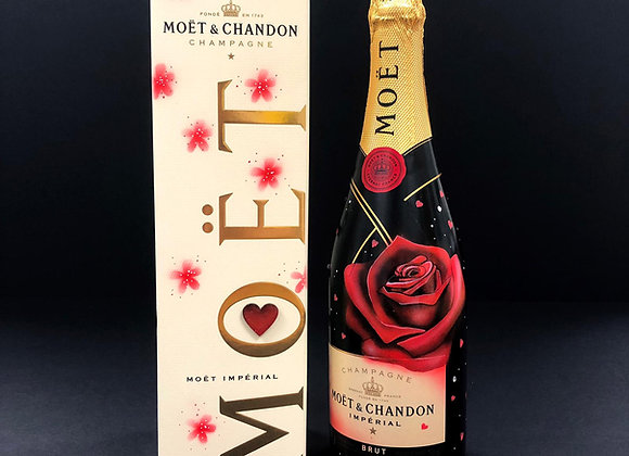 Moet Champagne - Hand Painted By Kealey Farmer