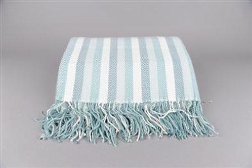 Soft & Silky stripes acryl plaid aqua 150x200