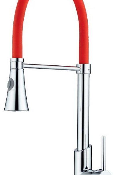 Vilas ALONA Kırmızı Endüstriyel Spiralli Evye Ve Mutfak Bataryası