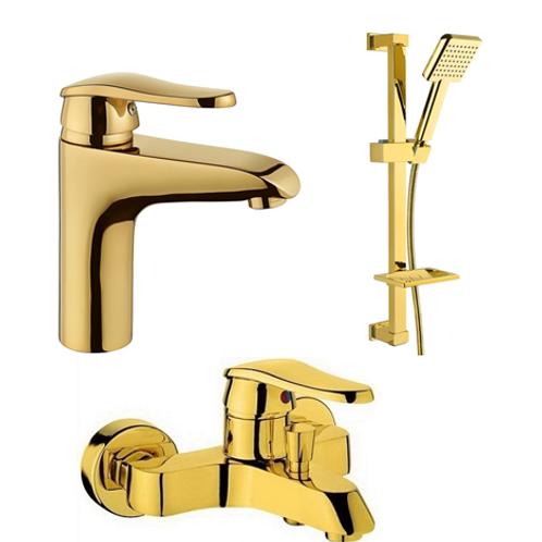Vilas Elmas Desenli Banyo Bataryası I Lavabo Bataryası I Duş Seti