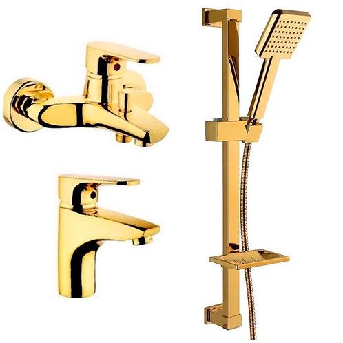 Vilas Storm Gold Banyo & Lavabo Bataryası Ve Gold Duş Seti