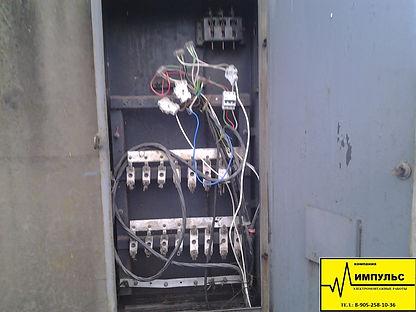 Сломанный электрический щит