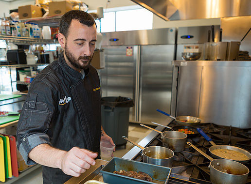 Chef Sean, a registered dietician with a degree in culinary arts prepares healthy Milo meals