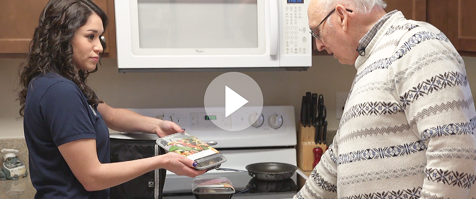 Milo member John saves valuable time with companion bringing meals
