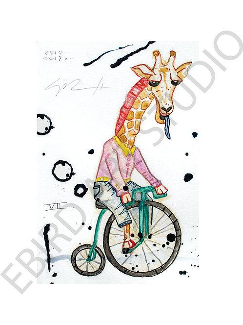 Giraffe Biking