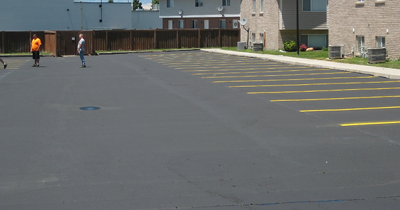 provo orem utah county asphalt repair parking lot potholes sealcoat sealer crack seal black