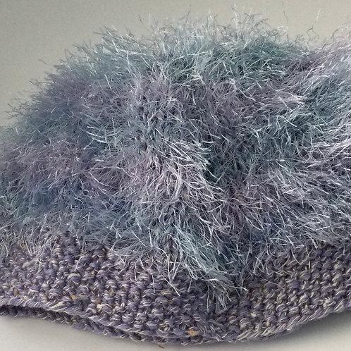 Fun Fur Child's Hat-shaded blues