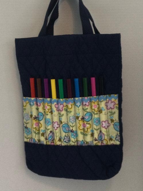 Child's Activity/ Car Bag- flowers theme