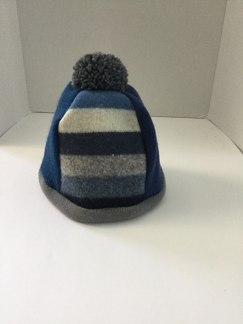 Child's Sweater Hat- blues, gray