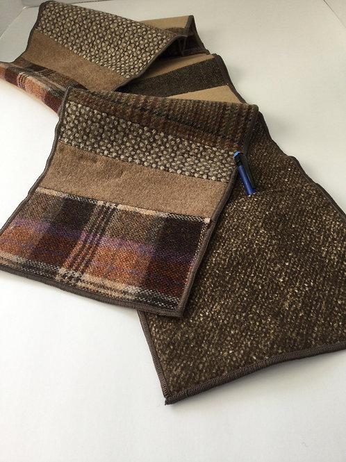 Scarf w/ pockets- browns/ beige/ rust