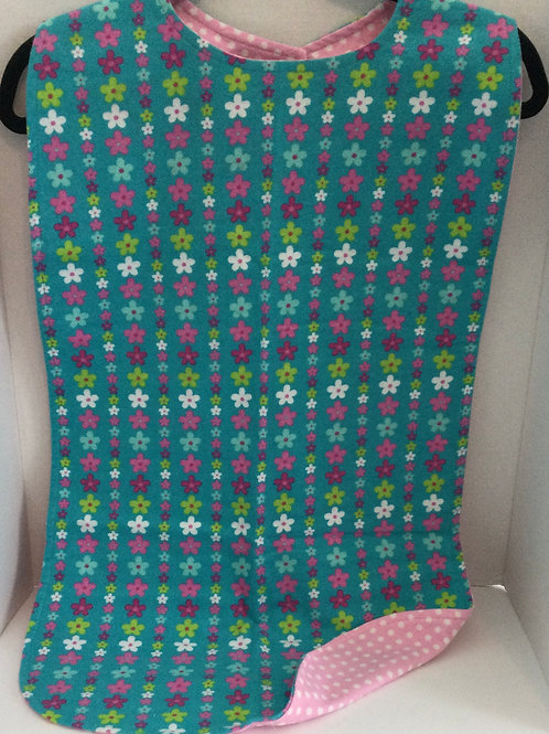 Clothing Protector- flowers on teal theme