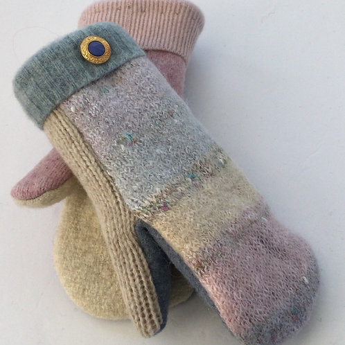 Sweater Mittens- lavender, blue, pink pastels