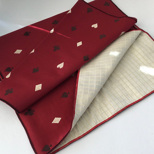Reversible Table Runner- dark red w/ creme