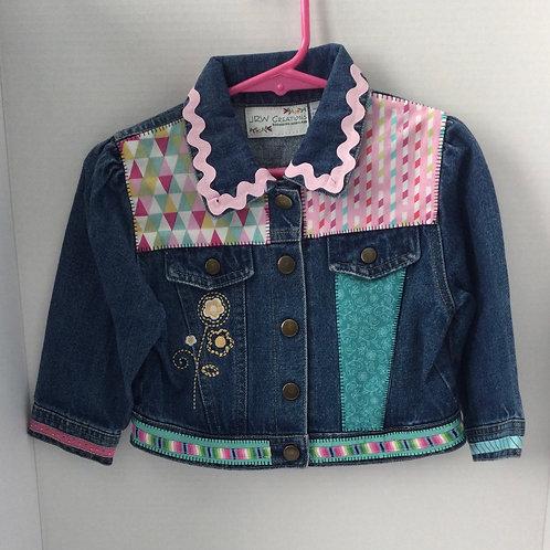 Jeans Jacket- Pink & Teal- 2T