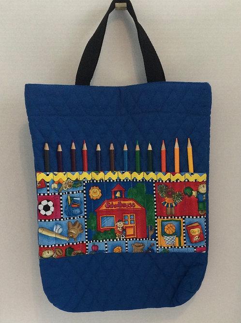 Child's Activity/ Car Bag- w/ colored pencils
