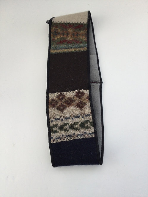 Classic ear warmer- brown, cranberry, taupe