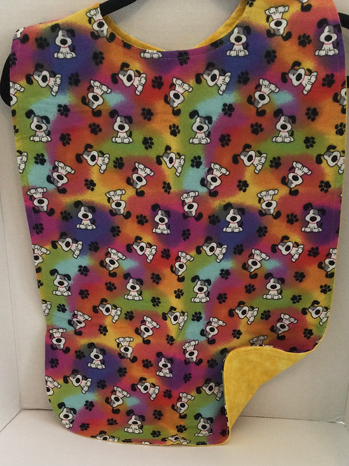 Clothing Protector- dogs & paw prints theme