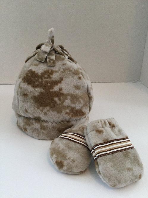 Polartec Hat & Mittens- comoflage- infant
