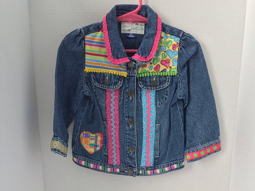 Jeans Jacket- Hearts Theme- 2T
