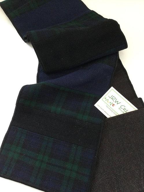 Scarf w/ pockets- navy, forest green, black