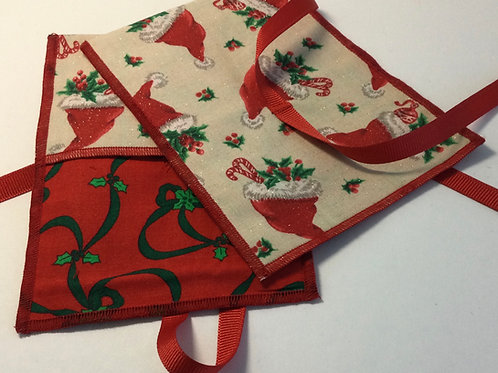 Gift Card Holder- Santa Hat w/ red print