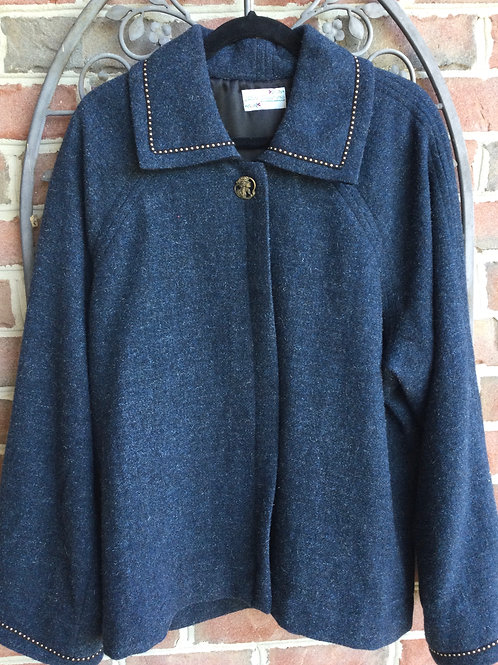 Wool jacket- navy