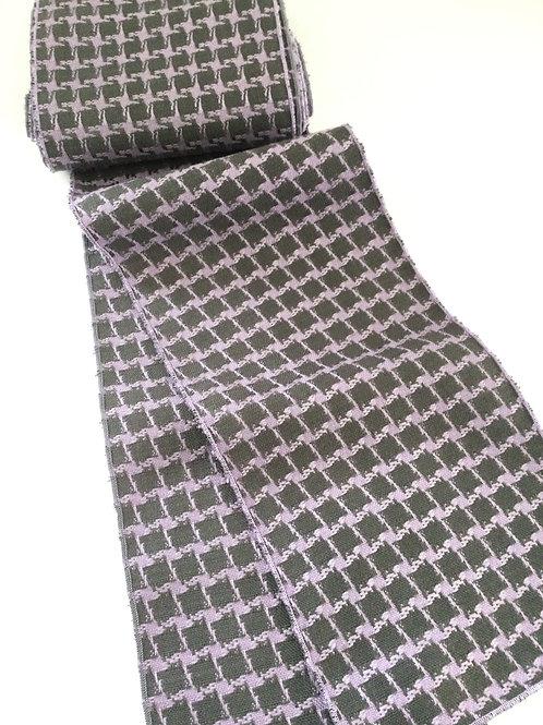 Scarf- lavender & gray check