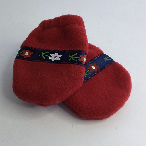 Polartec Mittens- red- infant