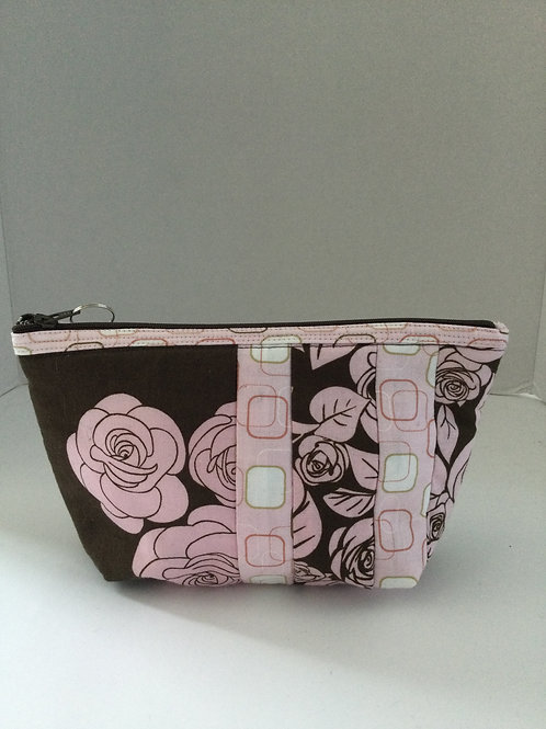 Tiny Tote- pink & brown