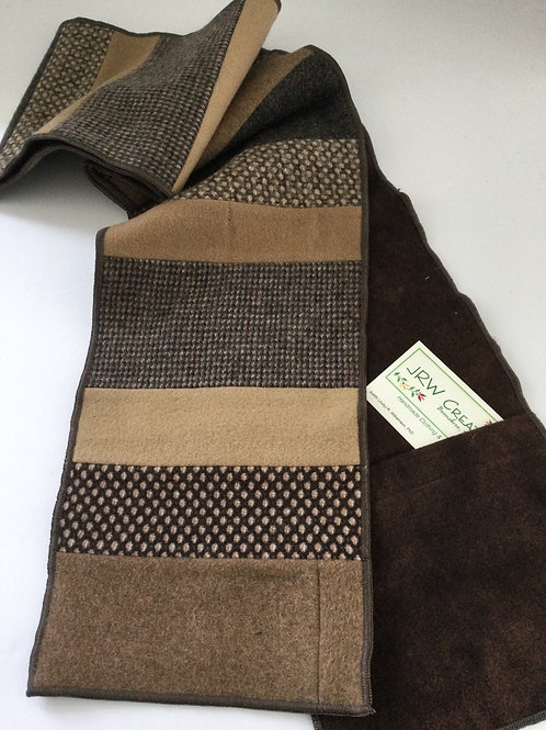 Scarf w/ pockets- shades of brown/ tan
