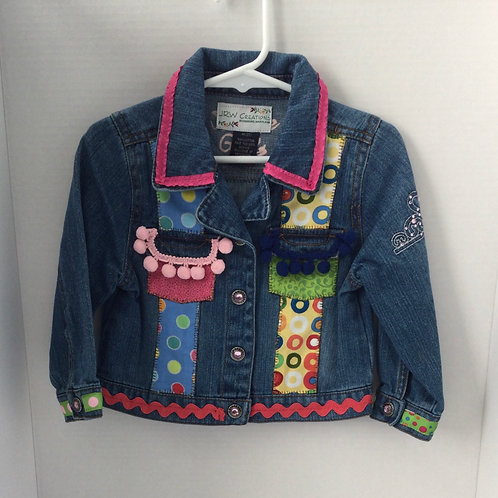 Jeans Jacket- Circles Theme- 3 T