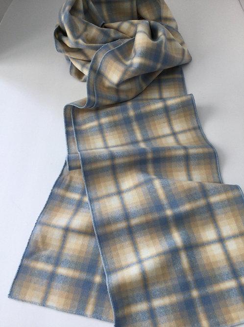 Wool Scarf- blue/ creme/ yellow
