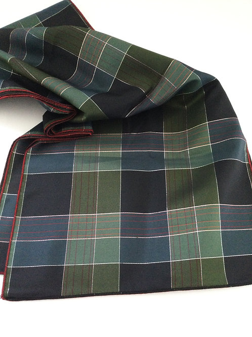 Festive Scarf- Black/ green/ red & silver accent