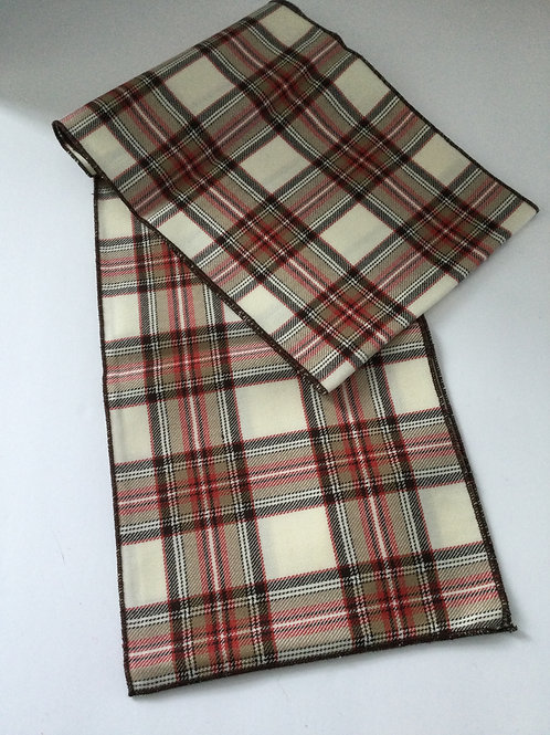 Wool Scarf- creme/ brown/ rust