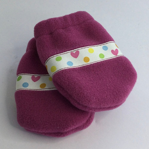 Polartec Mittens- rosey pink- infant