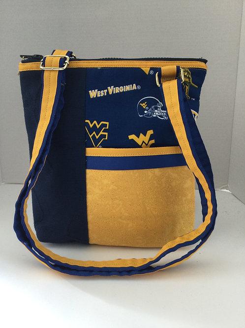 Cross Body Purse- WVU blue & gold