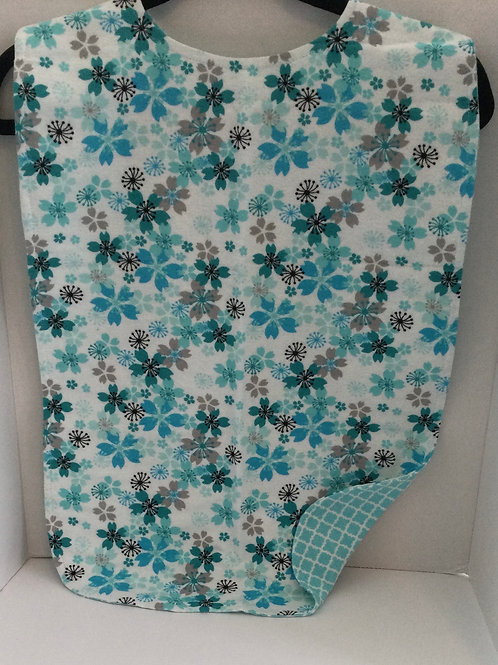 Clothing Protector- teal flowers theme