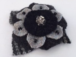Lapel pin- gray, black