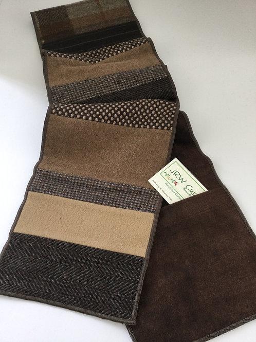 Pocket Scarf- shades of brown/ tan