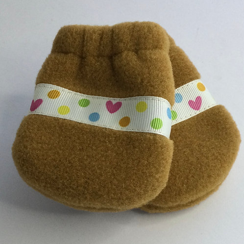 Polartec Mittens- gold- infant