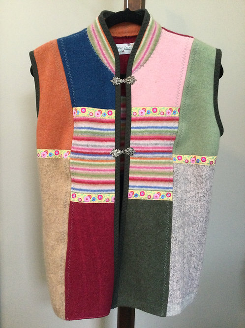 Sweater Vest- rainbow colors- S