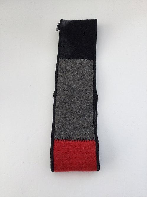 Classic ear warmer- cranberry, charcoal, black
