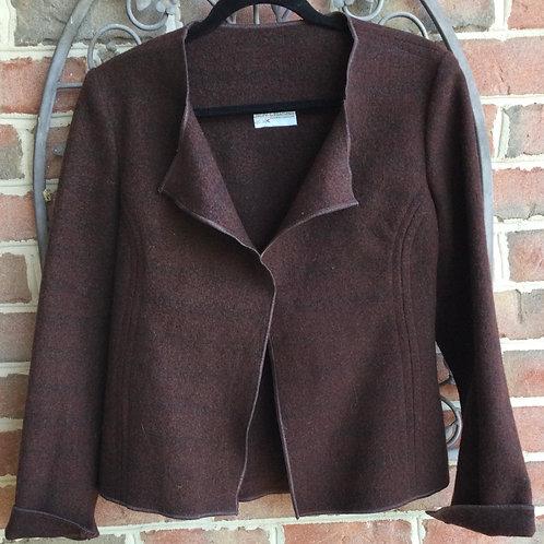 Felted Wool Jacket- brown