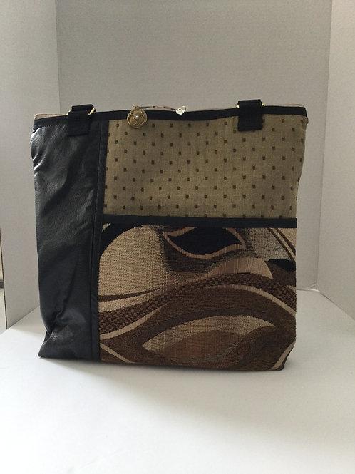 Medium Shoulder Bag- Shades of taupe, Black