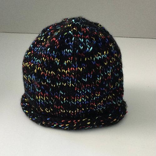 Child's Hat- black, teal, blue, red