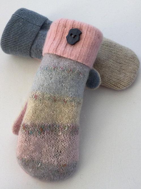 Sweater Mittens- pink, blue, pastels