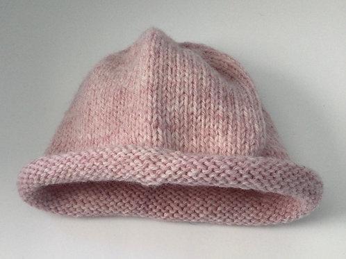 Child's Hat- pink heather