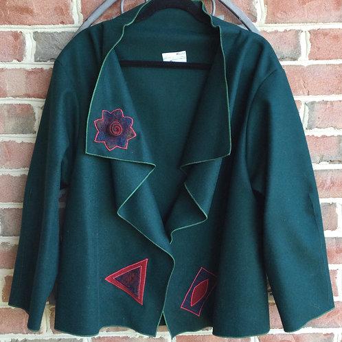 Wool Melton Jacket- forest green
