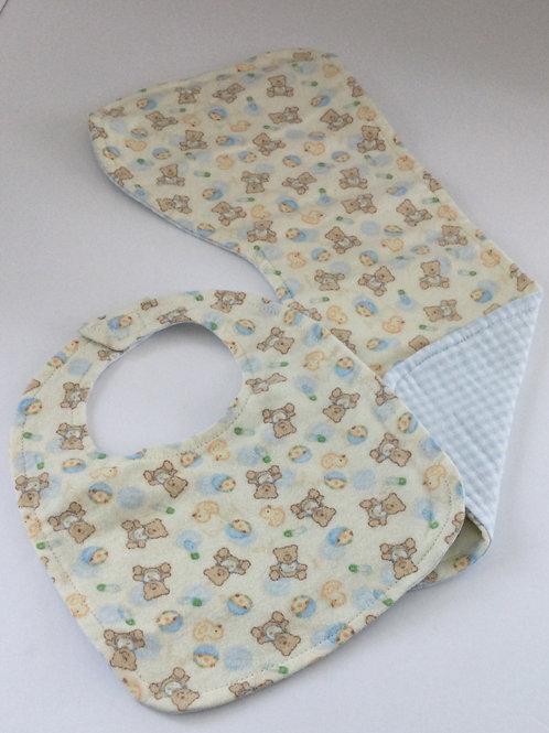 Bib & Burp Pad Set- Teddy bear theme